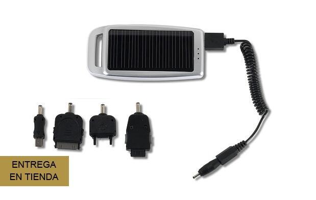 Cargador solar con 5 adaptadores