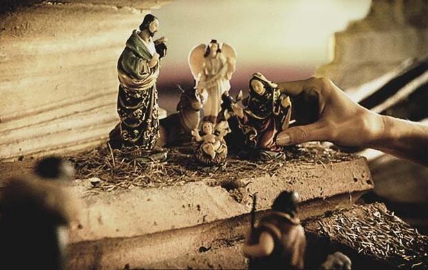 Belén, 13 figuras en resina pintadas a mano
