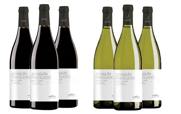 Caja de 6 botellas de vino:blanco y tinto