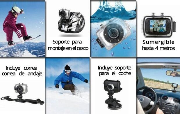 Videocámara deportiva HD