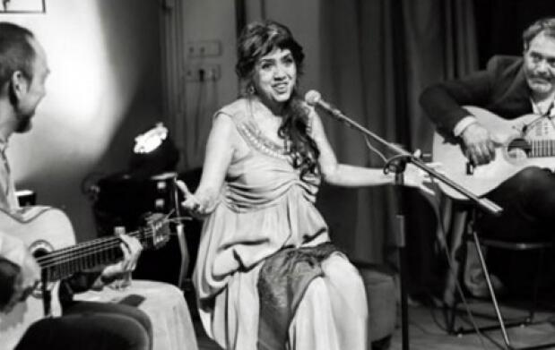 Lole Montoya en el Café Berlín de Madrid