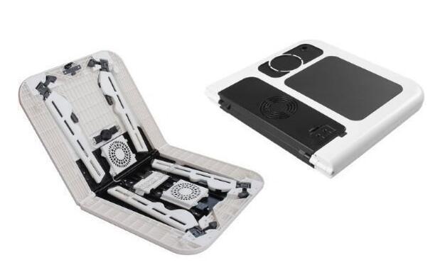 Mesa plegable para portátil con ventilador