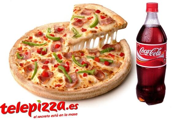 Pizza grande 3 ingredientes+refresco 1L