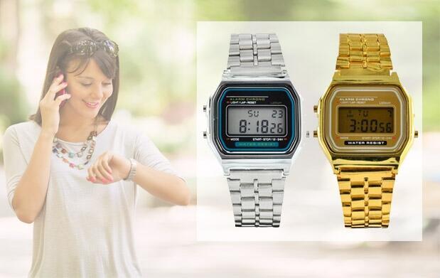 Reloj digital retro