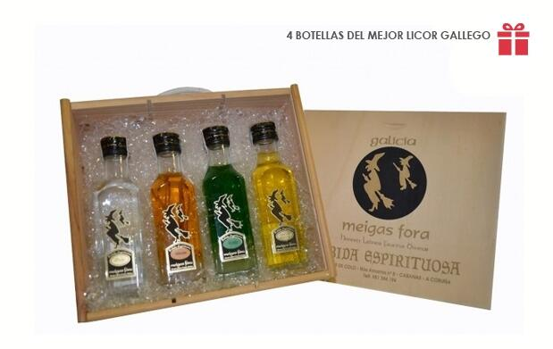4 Botellas del mejor licor gallego