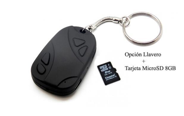 Llavero Espía o más Tarjeta MicroSD 8GB