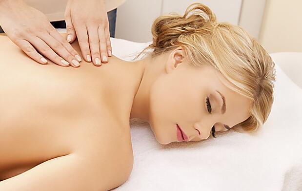 Sesión de fisioterapia profesional