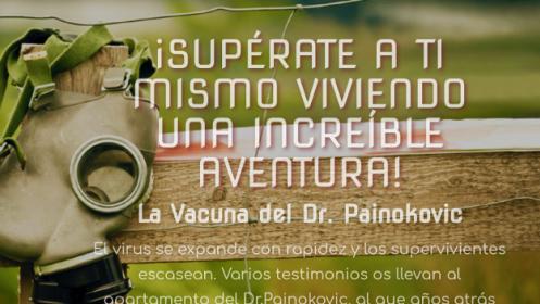 """Juego de escape """"La vacuna del Dr. Painokovic"""""""