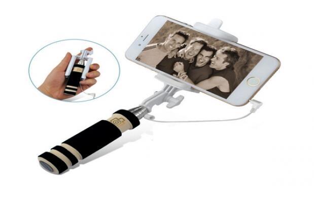 Mini palo Selfie con Disparador por Cable Incluido