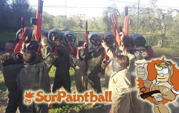 Partida de paintball