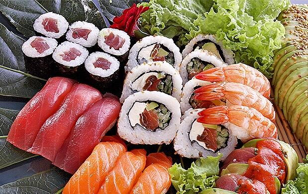 El mejor sushi recién hecho