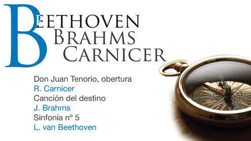 Beethoven, Brahms y Carnicer en el Auditorio Nacional