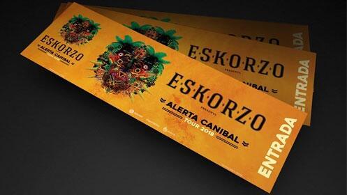 Entradas Eskorzo Madrid y Barcelona