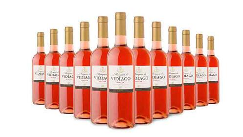 3, 6 o 12 botellas de vino Rosado Rioja Marqués de Vidiago